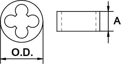 ROUND UNF THREAD DIE STANDARD N° 2 × 64