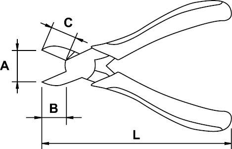 DIAGONAL CUTTING PLIER MINI ESD 115 MM