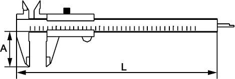 VERNIER CALIPER INOX 150 MM × 0,02 MM