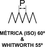 THREAD PITCH GAUGE 52 BLADES 0,25 - 6,0 MM 4 - 62 TPI