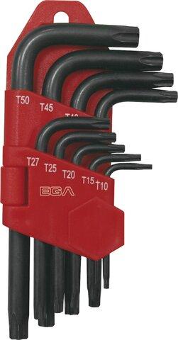 SET 9 HEXAGONAL KEYS TAMPER TORX® EGA TT10 - TT50