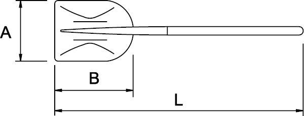 SHOVEL ALUMINIUM LONG HANDLE 390 × 345 × 1620 MM