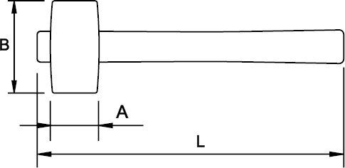 GERMAN TYPE STONING HAMMER FIBERGLAS HANDLE 0,8 KG
