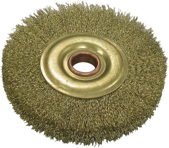 WHEEL BRUSH NON-SPARKING BRASS 22,2 × 150 MM
