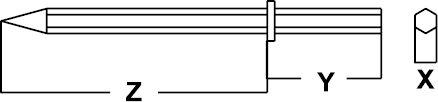 PNEUMATIC CHISEL HEXAGONAL NON-SPARKING CU-BE 28 × 150 × 350 MM