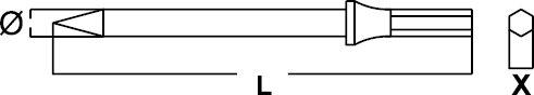 PNEUMATIC CHISEL CROSS CUTTING NON-SPARKING CU-BE 10 × 125 MM