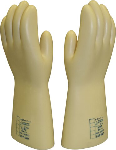INSULATING GLOVES 1000 V CLASS 00 SIZE 8