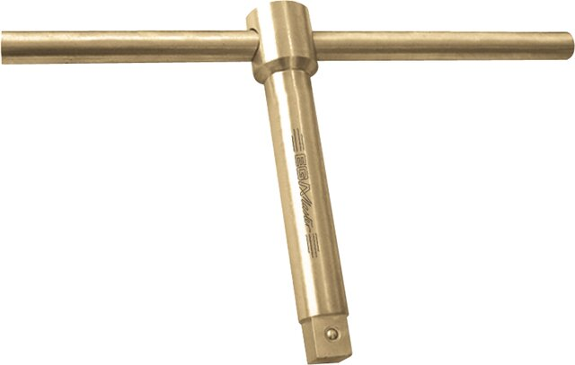 "LONG SLIDING T HANDLE 3/4"" NON-SPARKING CU-BE"