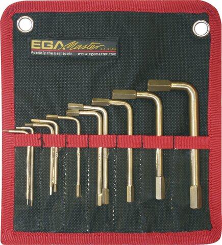 SET 10 HEXAGONAL KEYS EGA NON-SPARKING CU-BE 1,5 - 10 MM
