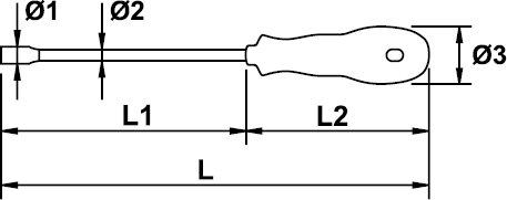 SCREWDRIVER SOCKET MASTERTORK 1000 V EGA 9 × 175 MM