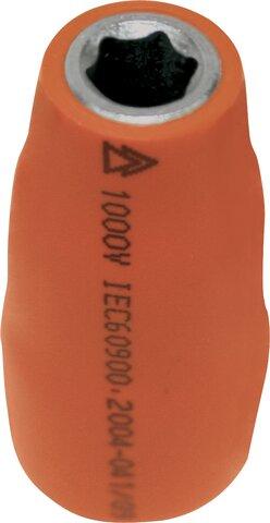 """SOCKET WRENCH 3/8"""" STANDARD 6 EDGES 1000 V 6 MM"""