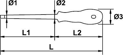 "SCREWDRIVER HEXAGONAL ALLEN MASTERTORK 1000 V EGA 13/64"""" × 4"""