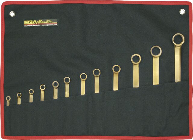 SET 10 COMBINATION WRENCHES NON-SPARKING AL-BRON 8 - 22 MM