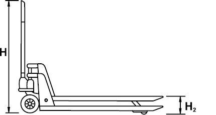 HYDRAULIC PALLET TRUCK NON SPARKING AL-BRON 2000 KG