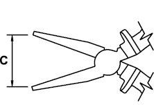 FLAT NOSE PLIER TITACROM® BIMAT 1000 V 160 MM