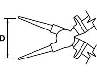 ROUND NOSE PLIER TITACROM® BIMAT 1000 V 160 MM