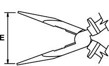 LONG NOSE PLIER TITACROM® BIMAT 1000 V 200 MM