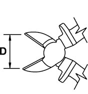 DIAGONAL CUTTING PLIER TITACROM® BIMAT 1000 V 190 MM