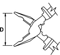 COMBINATION PLIER MASTERCUT TITACROM® BIMAT 1000 V 235 MM