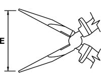 LONG NOSE PLIER MASTERCUT TITACROM® BIMAT 1000 V 160 MM