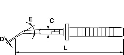 BENT NOSE PLIER MASTERCUT TITACROM® BIMAT 1000 V 200 MM