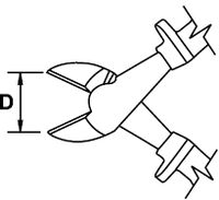 HEAVY DUTY DIAGONAL CUTTING PLIER MASTERCUT TITACROM® BIMAT 1000 V 200 MM