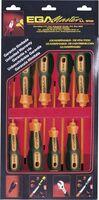 SET 6 SCREWDRIVERS MASTERTORK 1000 V EGA CARDBOARD CASE REF. 76620, 76621, 76622, 76623, 76629, 76630