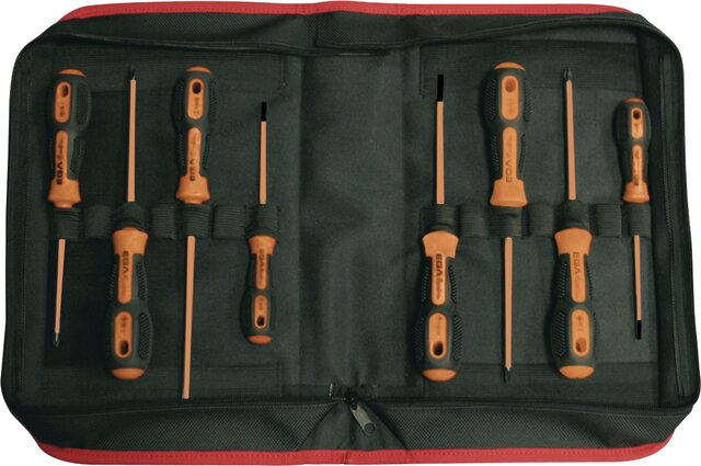 SET 6 SCREWDRIVERS MASTERTORK 1000 V EGA CLOTHING CASEREF. 76621, 76622, 76624, 76628, 76629, 76630