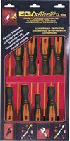 SET 8 SCREWDRIVERS ROTORK 1000 V EGA CARDBOARD CASE REF. 76651, 76652, 76653, 76654, 76655, 76656, 76657, 76658
