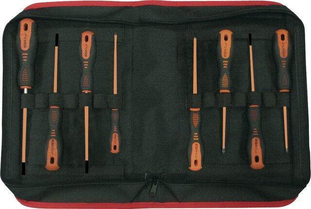 SET 8 SCREWDRIVERS ROTORK 1000 V EGA CLOTHING CASE REF. 76655, 76656, 76657, 76658, 76659, 76660, 76661, 76662