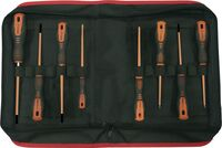 SET 8 SCREWDRIVERS ROTORK 1000 V EGA CLOTHING CASE REF. 76651, 76652, 76653, 76654, 76655, 76656, 76657, 76658