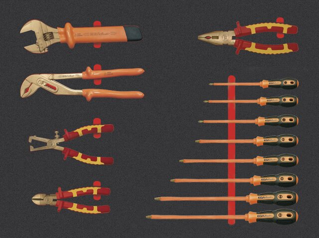 SET ELECTRICIAN TOOLS NON-SPARKING CU-BE 13 PIECES