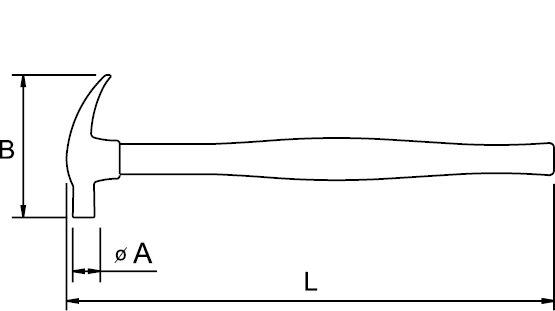 AMERICAN CLAW HAMMER FIBERGLASS HANDLE ANTIDROP ACO 21 MM