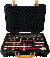 """SET SOCKET WRENCHES 1/2"""" 24 PIECES NON-SPARKING CU-BE 1/4""""-1.1/4"""""""