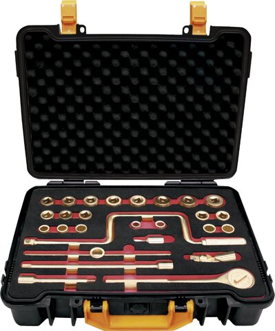 """SET 27 SOCKET WRENCHES 1/2"""" NON-SPARKING CU-BE 10 - 32 MM"""