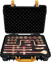 """SET SOCKET WRENCHES 1/2"""" 27 PIECES NON-SPARKING CU-BE 1/4""""-1.1/4"""""""
