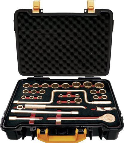 """SET 31 SOCKET WRENCHES 1/2"""" NON-SPARKING CU-BE 8 - 32 MM"""
