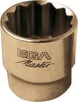 """SOCKET WRENCH 1/4"""" STANDARD 12 EDGES NON-SPARKING CU-BE 6 MM"""