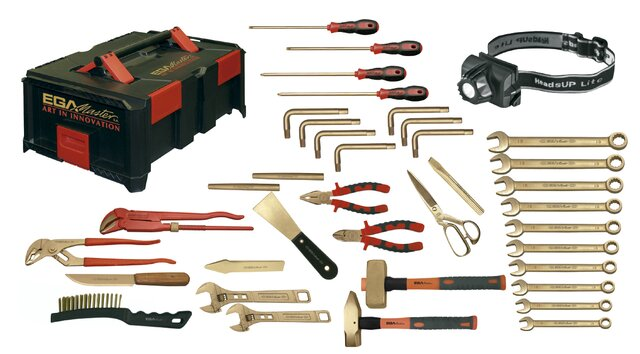 ATEX SAFETY SETS MAINTENANCE 38 PIECES NON-SPARKING CU-BE