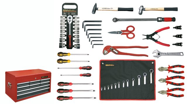 TOOLKIT FOR MECHANIC 53 PIECES INCHES