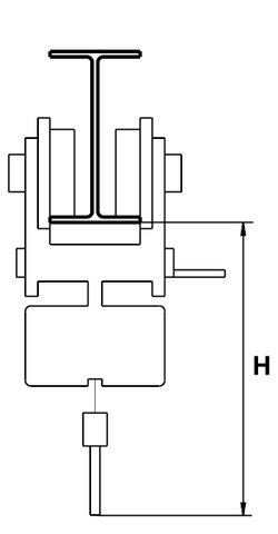 HAND CHAIN HOIST PUSH TROLLEY 1600 KGS.
