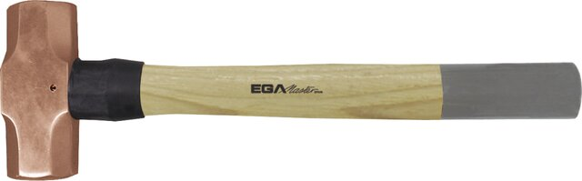 SLEDGE HAMMER HICKORY HANDLE NON-SPARKING COPPER 3600 GR