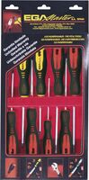 SET 8 SCREWDRIVERS ROTORK 1000 V EGA CARDBOARD CASE REF. 76730, 76731, 76652, 76653, 76654, 76659, 76660, 76661