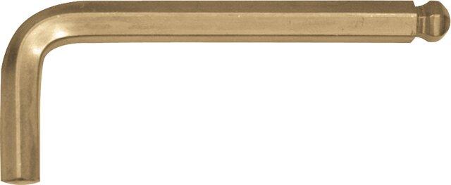 "BALLPOINT HEXAGONAL KEY EGA NON-SPARKING AL-BRON 1/4"""