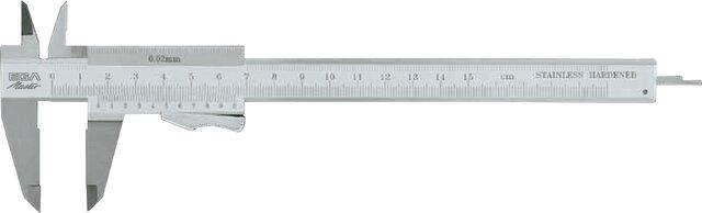 CALIBRE PIE DE REY (BLOCAJE POR RESORTE) INOX 150 MM × 0,02 MM