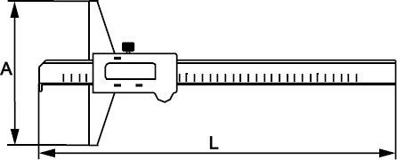 CALIBRE DE PROFUNDIDAD DIGITAL INOX 150 MM × 0,01 MM
