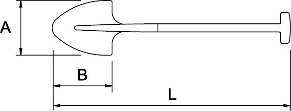PALA REDONDA N° 2 MANGO EN T 325 × 265 × 1030 MM