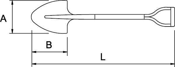 PALA REDONDA N° 2 MANGO EN V 325 × 265 × 1020 MM