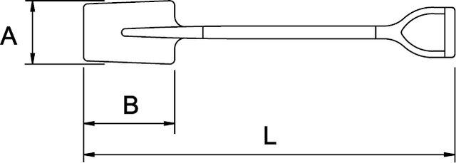 PALA MANGO EN V 260 × 160 MM