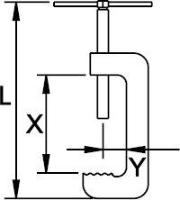 PRENSA ANTICHISPA CU-BE 210 MM 60 × 36 MM